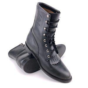 """Chippewa Blaze 8"""" Black Whirlwind Lacer Boots 9M"""